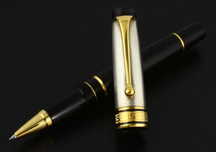 Aurora Optima Silver Rollerball Pen