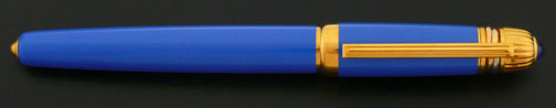 Cartier Pasha Light Blue and Gold Fountain Pen