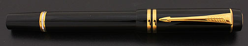 Parker Duofold International Streamlined Black Fountain Pen