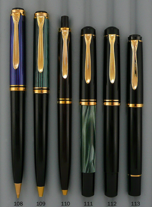 Pelikan 150 Fountain Pen, 800, 400 Ballpoint, 200 Rollerball, 800 Pencil