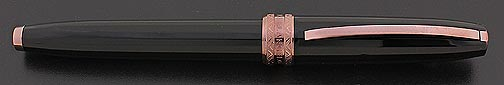 Visconti Michelangelo Fountain Pen - Black faceted, rose gold plating