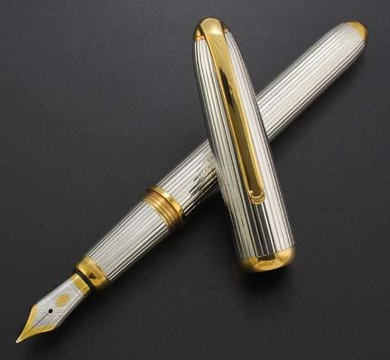 cartier-louis-cartier-sterling-silver-godron-striped-fountain-pen